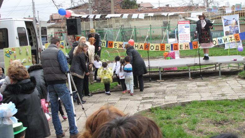 Озвучаване за празника на Ромите в квартал Христо Ботев